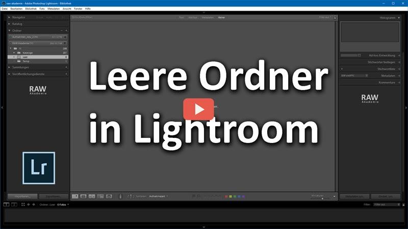 Lr2go: Leere Ordner in Lightroom